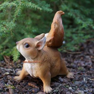 Eichhörnchen Figur Statue Skulptur Deko Wald - Vorschau 5