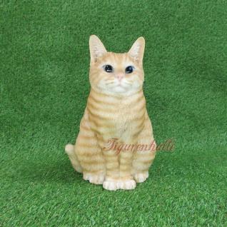 American Shorthair Charakter Katze Figur Statue Skulptur Deko beige Moritz Gartenfigur