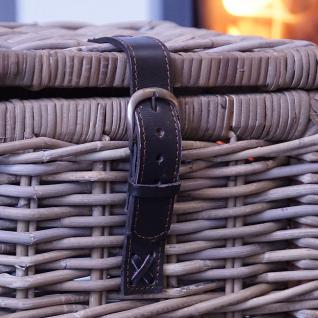 eleganter rattankorb truhe korb rattan korb deko maritim henkel deckel kaufen bei helga freier. Black Bedroom Furniture Sets. Home Design Ideas