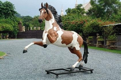 Pferd Lebensgroß Dekofigur für Reiterhof