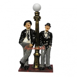 Laurel und Hardy Dick und Doof Lampe Dekofigur