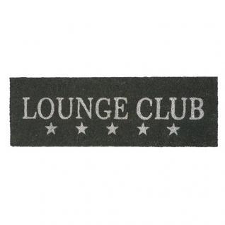 Kokos Fußmatte Lounge Club Fußabtreter Shabby Chic Kokosfaser Gummi