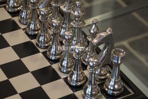 Aluminium Schachspiel edel Metall Luxus Deko Home Interiors Rivera - Vorschau 3