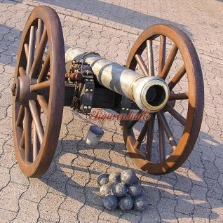 Kanone als Dekoration Deko Garten Skulptur