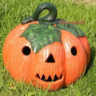 Kürbis mit Gesicht Dekofigur Halloween Figur Deko Garten