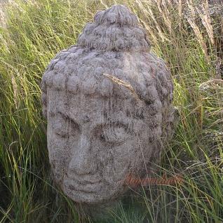 Buddha Kopf Feng Shui Figur Gartenfigur Skulptur Deko