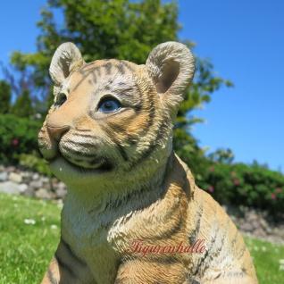 Löwe sitzend klein Babylöwe Löwenwelpe Figur Skulptur Dekoration Tier neu - Vorschau 4