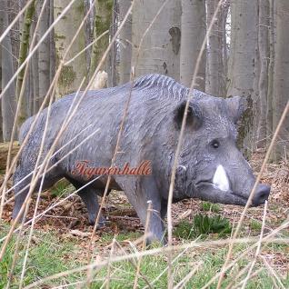 Wildschwein Wildsau Eber Wald Natur Tierfigur Figur Statue Skulptur lebensgroß