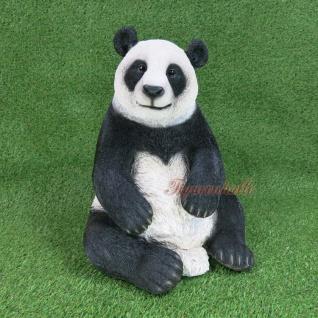 Pandabär Figur Statue Skulptur Deko Gartenfigur lebensecht Deko Panda Zoo Bär