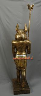 Ägypter in bronze Lackierung Anubis Gott Statue Skulptur Figur mit Zepter - Vorschau 4