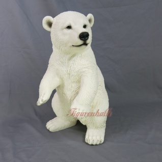 Riesen Eisbär Dekofigur lebensecht Arktis Eis Themendekoration Bärn Figur