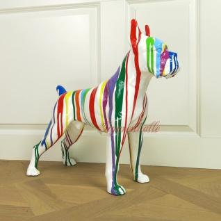 Boston Terrier Figur Statue Skulptur Kunst Abstrak Bunt Mehrfarbig Objeckt Deko