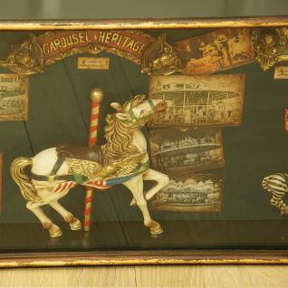 Karussell Vitrine Schaukasten Nostalgie Antik Dekoration Deko - Vorschau 4
