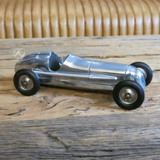 Auto Oldtimer Aluminium Nostalgie Car Figur Deko Retro Indianapolis