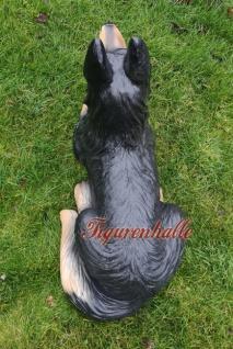 Deutscher Schäferhund liegend Figur Statue Skulptur Fan Gartenfigur Garten Deko - Vorschau 3