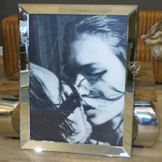 Kate Moss Wandbild Kunstdruck mit Spiegelglasrahmen Deko