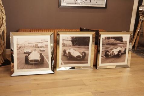 Mercedes Rennwagen Wandbild Spiegelrahmen Silberpfeil