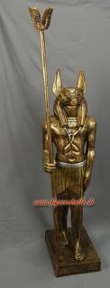 Ägypter in bronze Lackierung Anubis Gott Statue Skulptur Figur mit Zepter