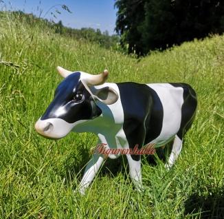 Kuh schwarz weiß Gartenfigur Figur Dekofigur & Werbefigur