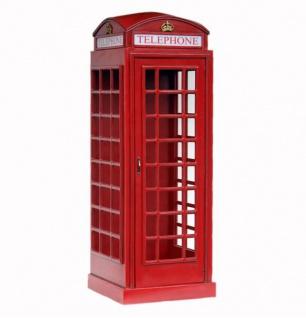 Englische Telefonzelle Schrank Replika lebensgroß Deko