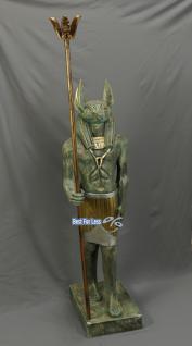 Anubis Figur Statue Skulptur Dekoration Ägypten Stein Optik