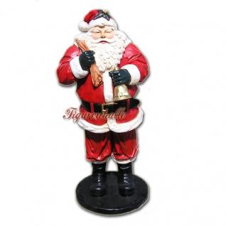 Lebensgroße Weihnachtsmann Figur Dekofigur.