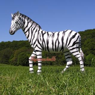 Zebra Dekofigur Lebensgroß Figur Afrika Zoo