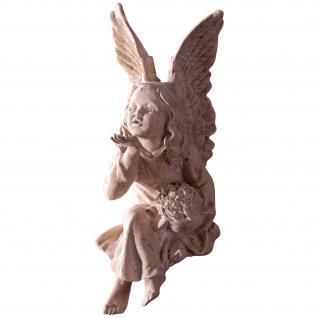 Engel Resin in Steinoptik Dekofigur Gartenfigur