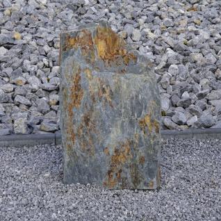 Schiefer Stein Stehle Naturstein Garten Deko Dekoration Springbrunnen Quellstein