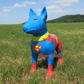 Figur Bullterrier Superman Staue American Bully Figur Deko Art Design neu Modern