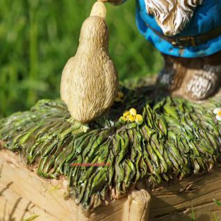 Gartenzwerg mit quakender Ente als Deko für Haus und Garten - Vorschau 3