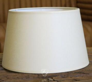Lampenschirm weiß konisch 25 cm zulaufend Tischlampe Tischleuchte Wandleuchte elegant