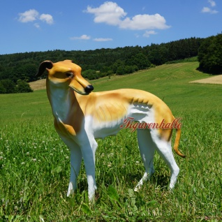 Windhund Greyhound Figur Statue Skulptur Dekoration
