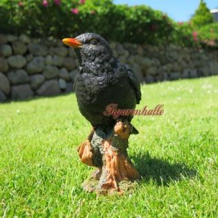 Amsel Vogel Figur Skulptur Dekoration Dekofigur Neu Schwarzdrossel Vogel Deko