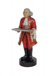 Butler Englischer Deko Stummer Diner Figur Statue Skulptur Britisch