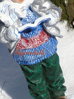 Junge Winterdekoration Atvents Deko Figur Statue - Vorschau 4