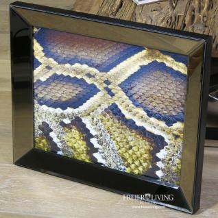 Wandbild Spiegelrahmen Schlangenhaut Schlange