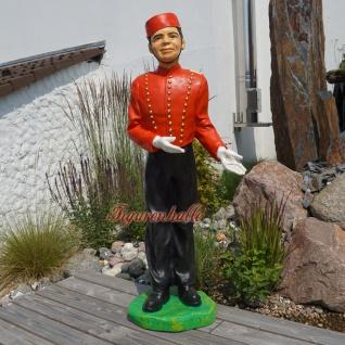 Hotel Page Figur Statue als Kino Deko Hoteldiener