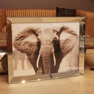 Wandbild Elefant Afrika Dickhäuter Tier Motiv Spiegelrahmen Deko
