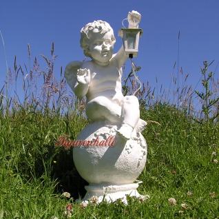 Engel auf Kugel Dekofigur Gartenfigur mit Lampe
