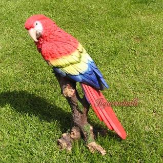 Papagei Figur Dekoration Palme Deko Statue