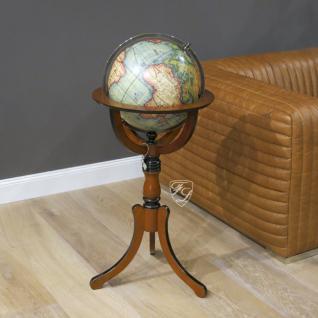 Globus Weltkugel auf Holzständer drehbar Dekoration