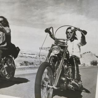 Biker Fan Artikel Spiegelrahmen Deko Motorrad Easy Rider 1969 Old Man Wandbild - Vorschau 2