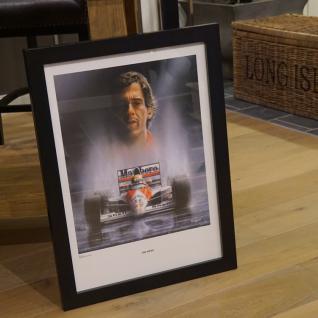 Monaco Ayrton Senna F1 Rennfahrer Wandbild Holz