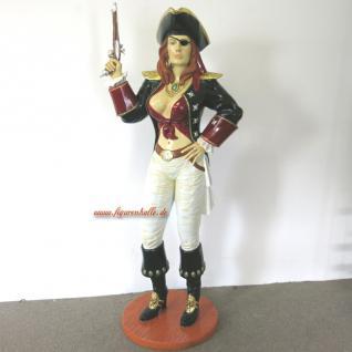 Piraten Dame Seeräuber Dekofigur Maritime Deko lebensgroß