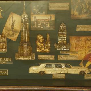 New York Vitrine Schaukasten Nostalgie Antik Dekoration Deko - Vorschau 4