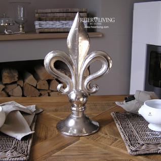 Französiche Lilie ca 40 cm Aluminium Alu Dekoration Deko
