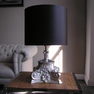 Aluminium Tischlampe in barockem Design als Nachttischlampe
