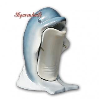 Fisch Delphin als Mülleimer Werbefigur Dekoration Mülleimer