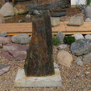 Schiefer Stein Stehle Naturstein Garten Deko Dekoration